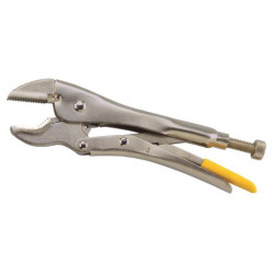 Clamping pliers with V-jaw...